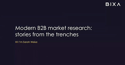 B2B Market Research: Tips, Tricks, Stories from the Trenches
