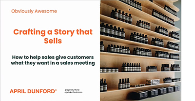 How to Build Stories that Sell