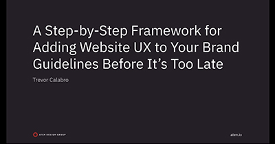 Website UX to Your Brand Guidelines Before It's Too Late