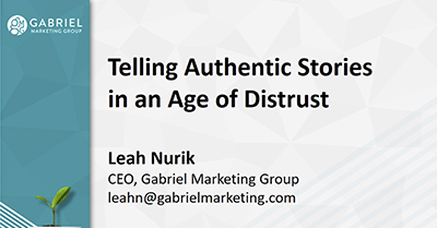 Telling Authentic Stories in an Age of Distrust