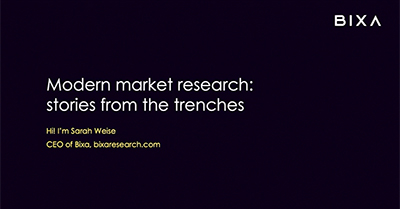 Modern Market Research: Tactics from the Trenches
